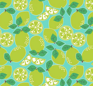 Blend Fabrics - Pucker Up - Blue Limes - 1/2 YARD CUT - Dreaming of the Sea Fabrics