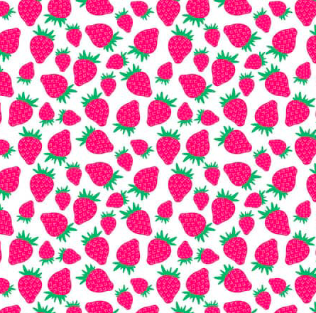 Blend Fabrics - Pucker Up - Strawberries - 1/2 YARD CUT - Dreaming of the Sea Fabrics