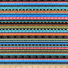 Load image into Gallery viewer, P&B Textiles - Fish Fest - Stripe - 1/2 YARD CUT