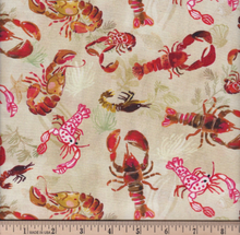 Load image into Gallery viewer, Dear Stella - Lobsters - Multi - 1/2 YARD CUT - Dreaming of the Sea Fabrics