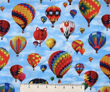 Load image into Gallery viewer, Elizabeth's Studio - In Motion - Hot Air Balloons  - 1/2 YARD CUT