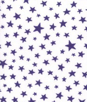 Moda Fabrics - Modafications - Purple & White Stars - 1/2 YARD CUT
