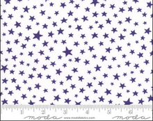Load image into Gallery viewer, Moda Fabrics - Modafications - Purple & White Stars - 1/2 YARD CUT