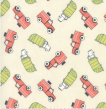 Load image into Gallery viewer, Moda Fabrics - Mighty Machines - Work Trucks - 1/2 YARD CUT