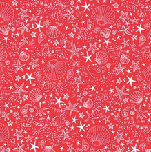 Load image into Gallery viewer, Michael Miller - Seashore - Red - 1/2 YARD CUT