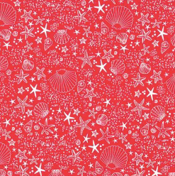 Michael Miller - Seashore - Red - 1/2 YARD CUT
