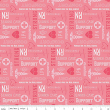 Load image into Gallery viewer, Riley Blake - Nurse - Pink - 1/2 YARD CUT