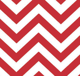 Moda Fabrics - Modern Zig Zags - Medium - Ruby - 1/2 YARD CUT