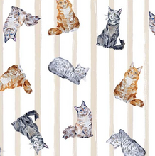 Load image into Gallery viewer, Michael Miller - Paws Up! - Crafty Cats - Line - 1/2 YARD CUT
