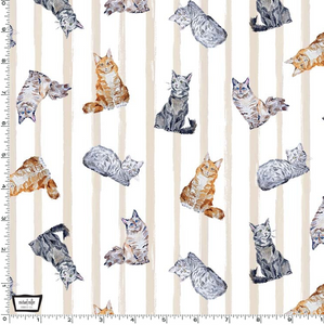 Michael Miller - Paws Up! - Crafty Cats - Line - 1/2 YARD CUT