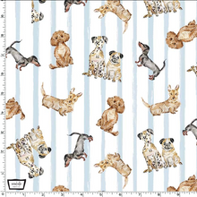 Load image into Gallery viewer, Michael Miller - Paws Up! - Dog Friendly - Blue - 1/2 YARD CUT