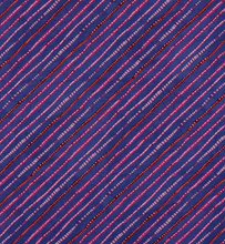 Load image into Gallery viewer, Wilmington Prints - Dark Blue Ticking Stripe - 1/2 YARD CUT