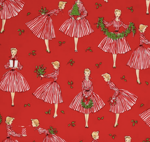 Michael Miller - Holiday Hostess - Red - 1/2 YARD CUT