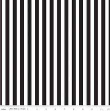 Load image into Gallery viewer, Riley Blake - Pirate Tales - Stripes Black  - 1/2 YARD CUT