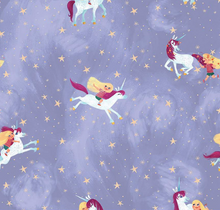 Load image into Gallery viewer, Riley Blake - Uni the Unicorn - Main Light Purple - 1/2 YARD CUT