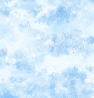 P&B Textiles - Blue Clouds - 1/2 YARD CUT