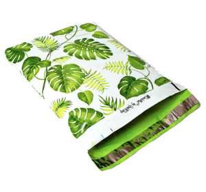 "Banana Leaves Polymailers 10""x13"" Qty 100"