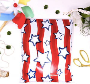 "Stars and Stripes Polymailers 10""x13"" Qty 38"