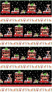 Northcott - Double Decker Christmas - Repeating Stripe - 1/2 YARD CUT