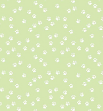 Load image into Gallery viewer, Riley Blake - Purrfect Day - Paws Green - 1/2 YARD CUT