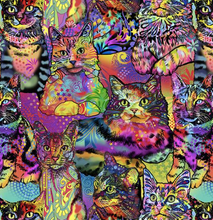 Load image into Gallery viewer, Print Concepts Inc - Crazy for Cats - 1/2 YARD CUT