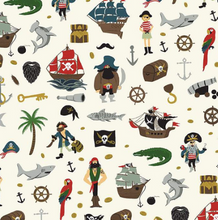 Load image into Gallery viewer, Riley Blake - Pirate Tales - Scatter Cream  - 1/2 YARD CUT