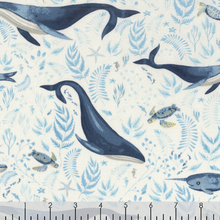 Load image into Gallery viewer, Dear Stella - Whale of a Time - 1/2 YARD CUT