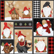 Load image into Gallery viewer, Henry Glass & Co - Timber Gnomies - Gnome Patchwork - 1/2 YARD CUT