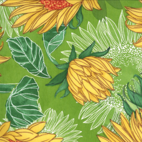 Moda Fabrics - Solana Sunflowers - Sprout - 1/2 YARD CUT