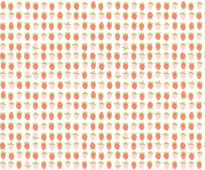 Riley Blake - New Dawn - Strawberries Cream - 1/2 YARD CUT - Dreaming of the Sea Fabrics