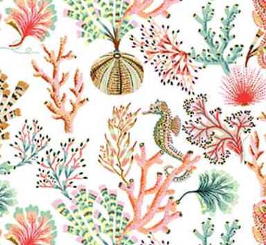 Figo - Sea Botanica - Sea Life - 1/2 YARD CUT