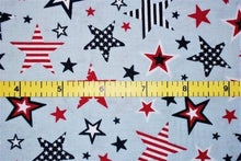 Load image into Gallery viewer, Studio E - Patriotic Stars - Light Blue - 1/2 YARD CUT