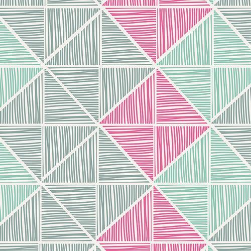 Art Gallery Fabrics - Angular Strings - Coated - 1/2 YARD CUT - Dreaming of the Sea Fabrics