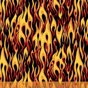 flames fire fabric