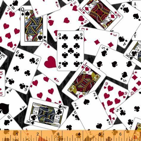 man cave black playing cards poker