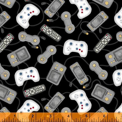 man cave black video game controllers