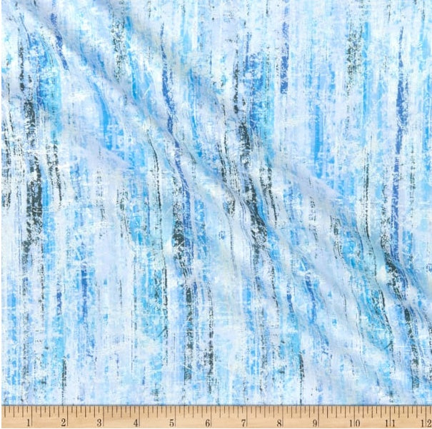 Henry Glass & Co Pearl Luxe II - Blue 1/2 YARD CUT
