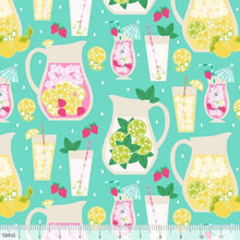 Load image into Gallery viewer, Blend Fabrics - Pucker Up - Blue Pitchers - 1/2 YARD CUT