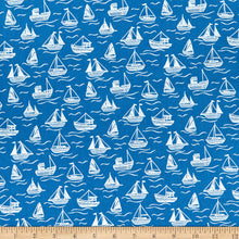 Load image into Gallery viewer, Lewis & Irene - Boats - Dark Blue - 1/2 YARD CUT