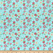 Load image into Gallery viewer, Wilmington Prints - Adventure Time - Teal Floral Toss - 1/2 YARD CUT