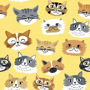 FLANNEL - Cats - 1/2 YARD CUT