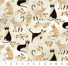 Load image into Gallery viewer, Figo - Marcel - Cats - 1/2 YARD CUT