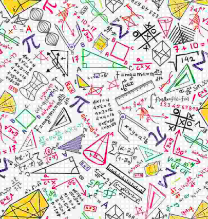 pi math science doodles tic tac toe pythagorean back to school fabric