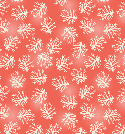 coral pink white under the sea life color beach travel 3 wishes fabric