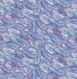 feathers blue purple white celestial journey 3 wishes fabric
