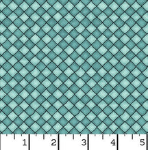 Load image into Gallery viewer, Maywood Studio - Happiness is Homemade - Checkers Turquoise- 1/2 YARD CUT