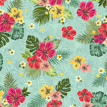 Load image into Gallery viewer, Windham Fabrics - Hibiscus Freeze - Aqua - 1/2 YARD CUT