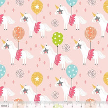 Load image into Gallery viewer, End of Bolt - Calliope - Unicorns Pink - BY THE HALF YARD