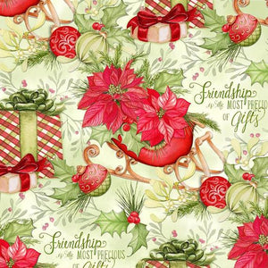 Springs Creative - Precious Gifts - 1/2 YARD CUT