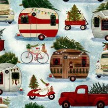 Load image into Gallery viewer, Quilter's Palette - Christmas Campers - Christmas on the Go - 1/2 YARD CUT
